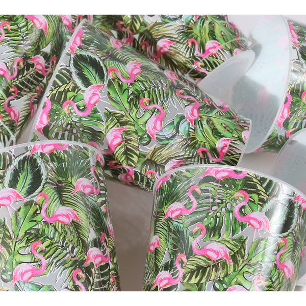 Palm Flamingo Craze Shatterproof/Reusable Cups