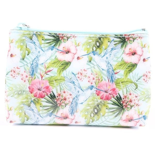 Floral Hummingbird Pouch