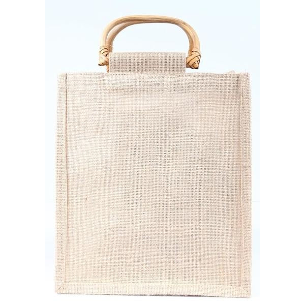Jute Tote with Bamboo Handles