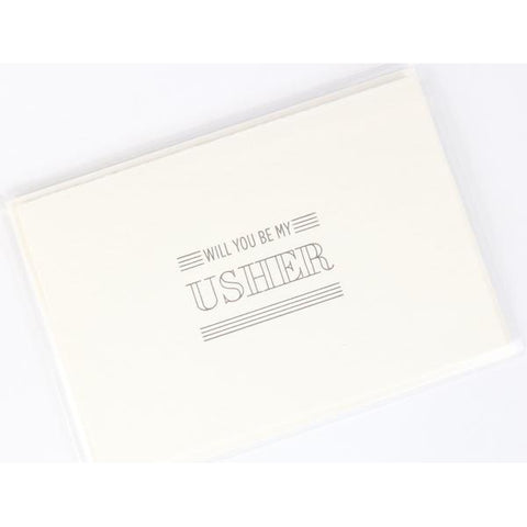 Will You Be My Usher Letterpress Note Card