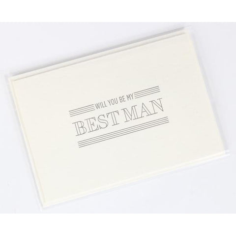 Will You Be My Best Man Letterpress Note Card