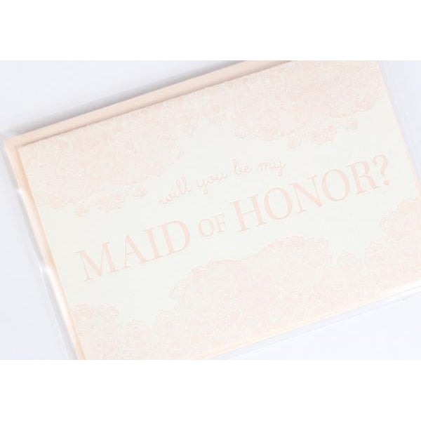 Will You Be My Maid/Matron of Honor Letterpress Note Card