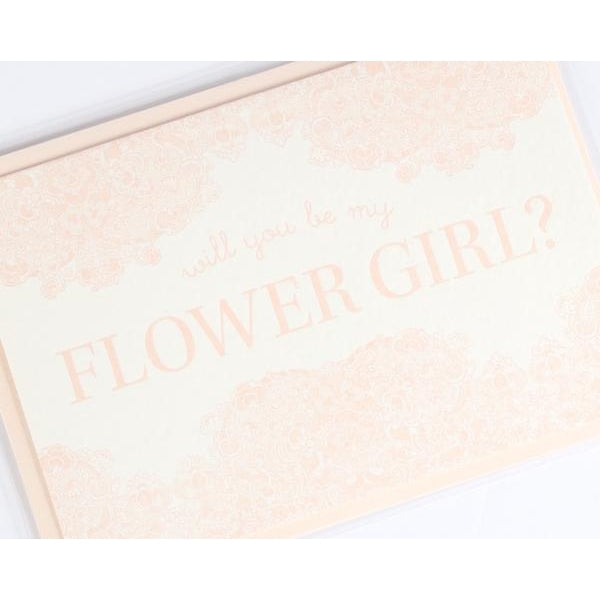 Will You Be My Flower Girl Letterpress Note Card