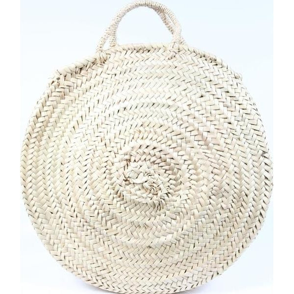 Round Straw Fashion Tote