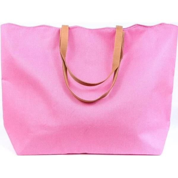Scallop Juco Tote Pink