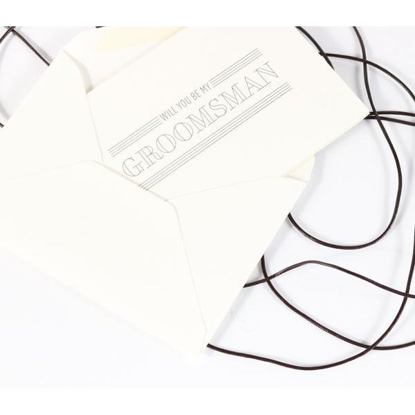 Will You Be My Groomsman Letterpress Note Card