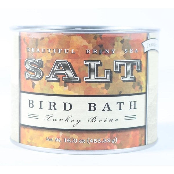 Beautiful Briny Salt Bird Bath Turkey Brine