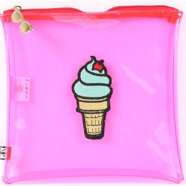 Clear Pink Sundae Pouch