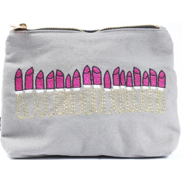 Loads of Lipstick Pouch in Gray
