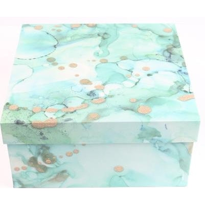 Turquoise Watercolor Box