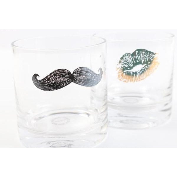 A TICKLE AND A KISS GLASS SET