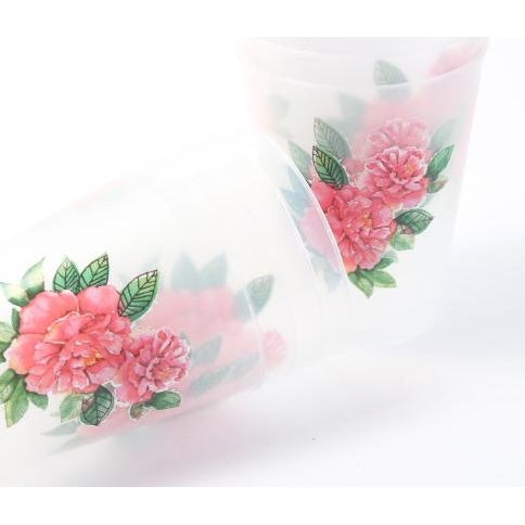 Pink Peony Flower Shatterproof Cups