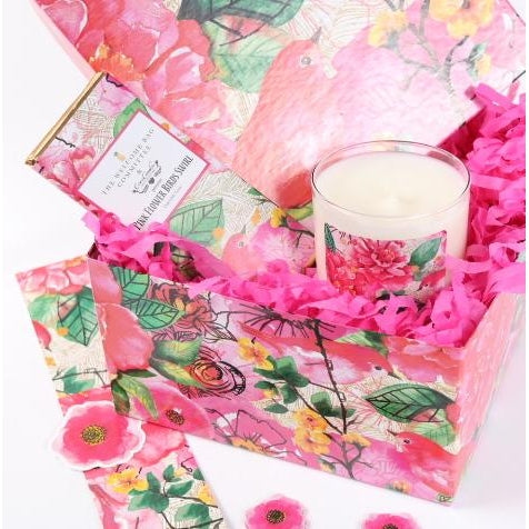 Pink Flower Birds Gift Box Collection