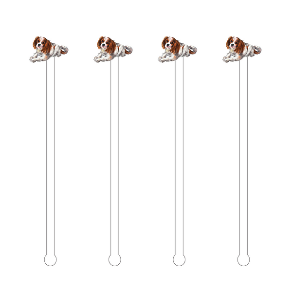 King Charles Cavalier Acrylic Stir Sticks