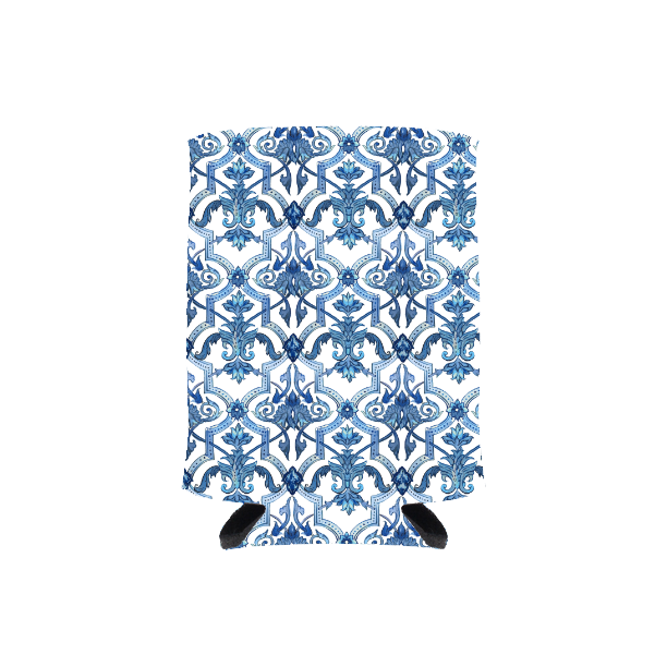 Blue + White Tile Drink Hugger
