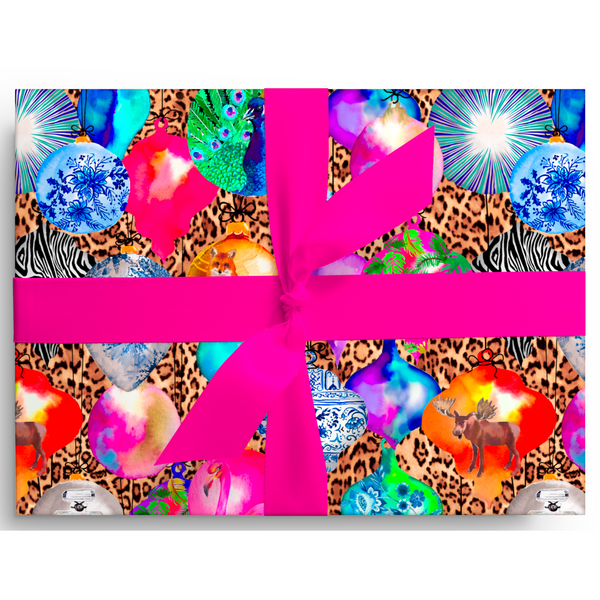 Chic Ornaments Leopard Gift Wrap