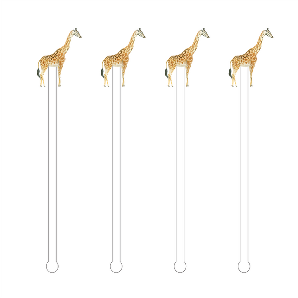 Giraffe Acrylic Stir Sticks