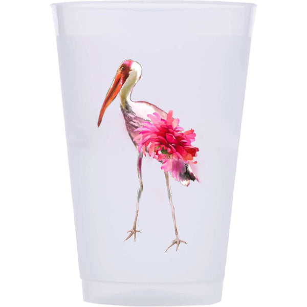 Crane Flower Shatterproof/Reusable Cups