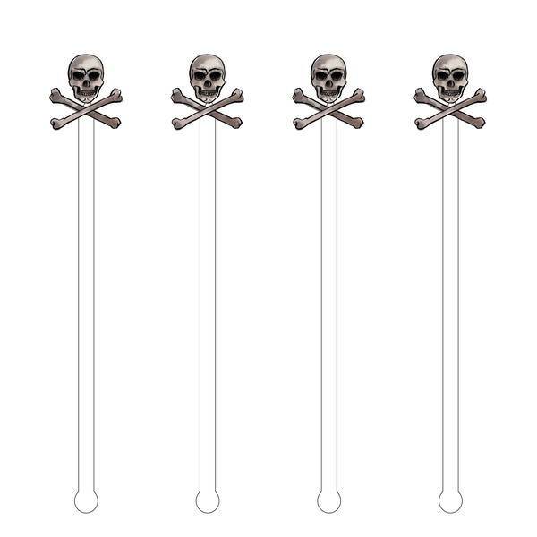 SKULL & CROSSBONES ACRYLIC STIR STICKS