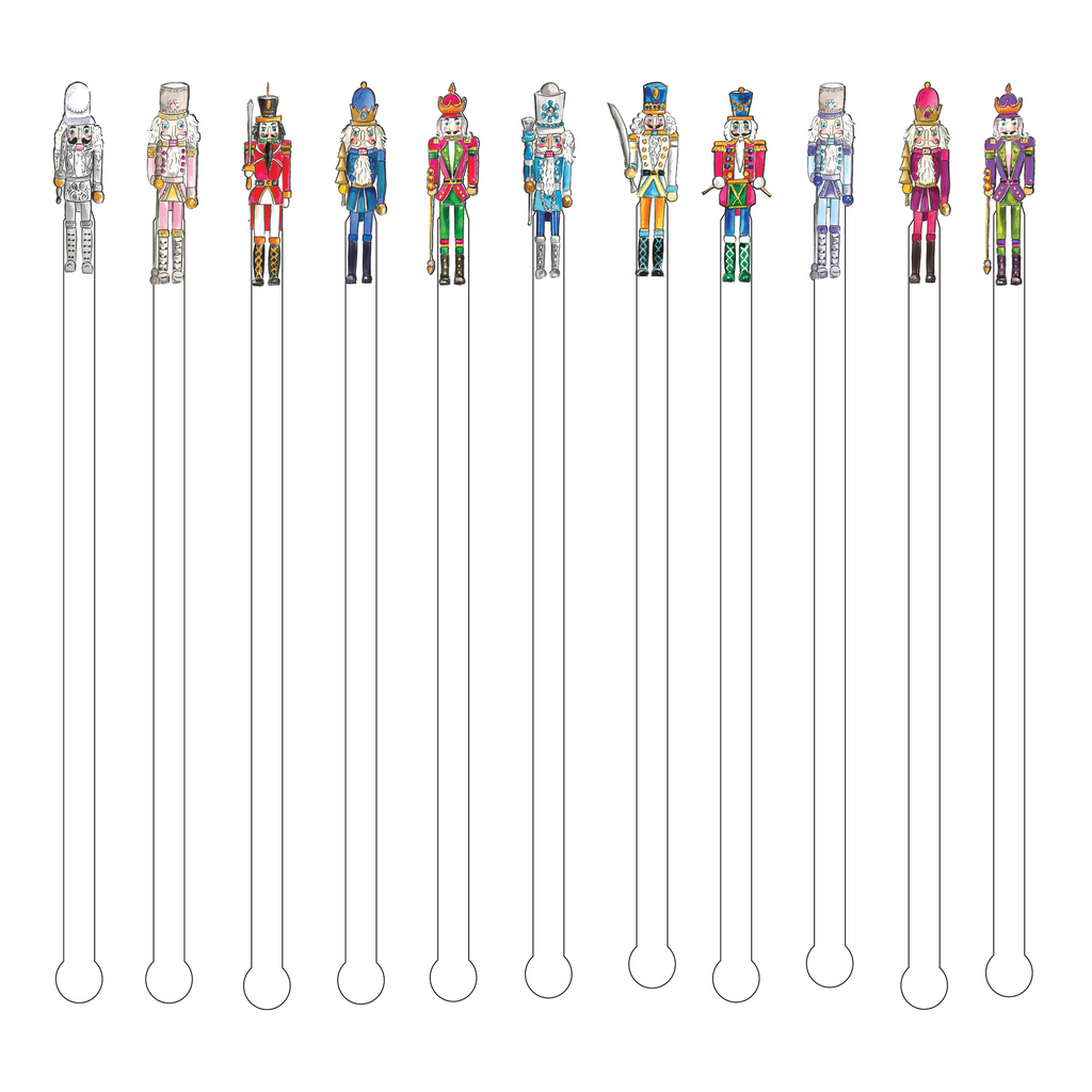 Nutcracker Acrylic Stir Sticks-11 Pack