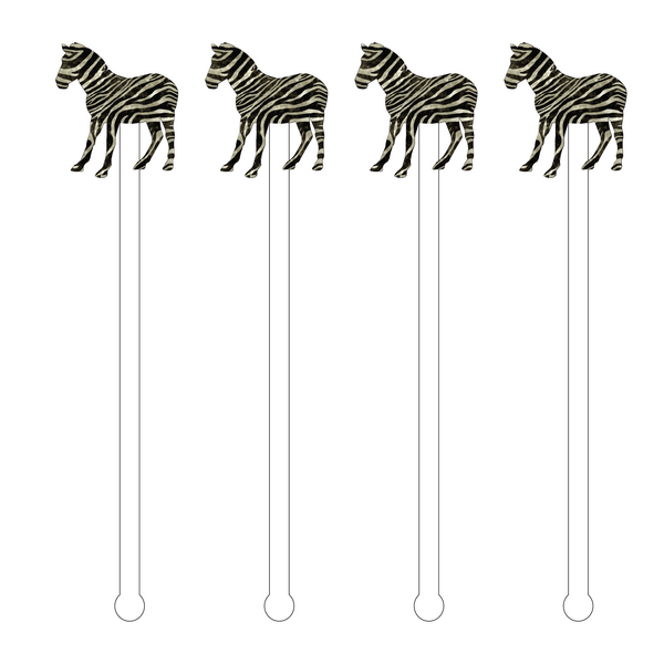 Zebra Acrylic Stir Sticks