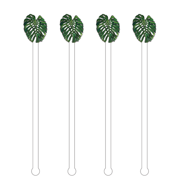 Monstera Leaf Acrylic Stir Sticks