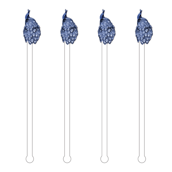 Blue Peacock Acrylic Stir Sticks