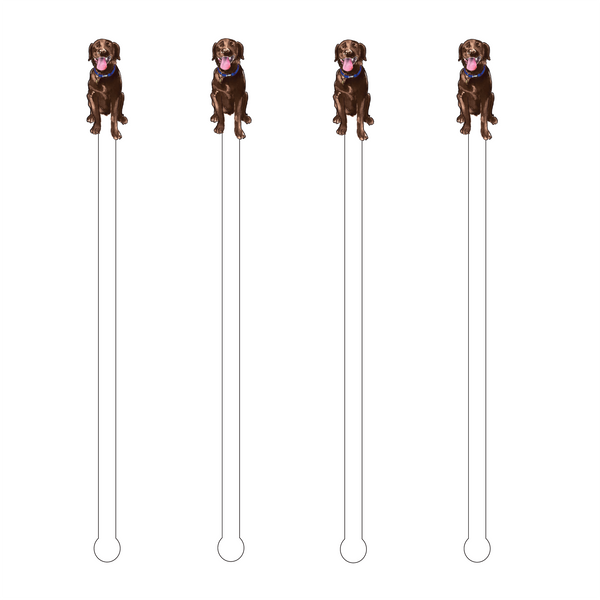 BROWN LAB ACRYLIC STIR STICKS