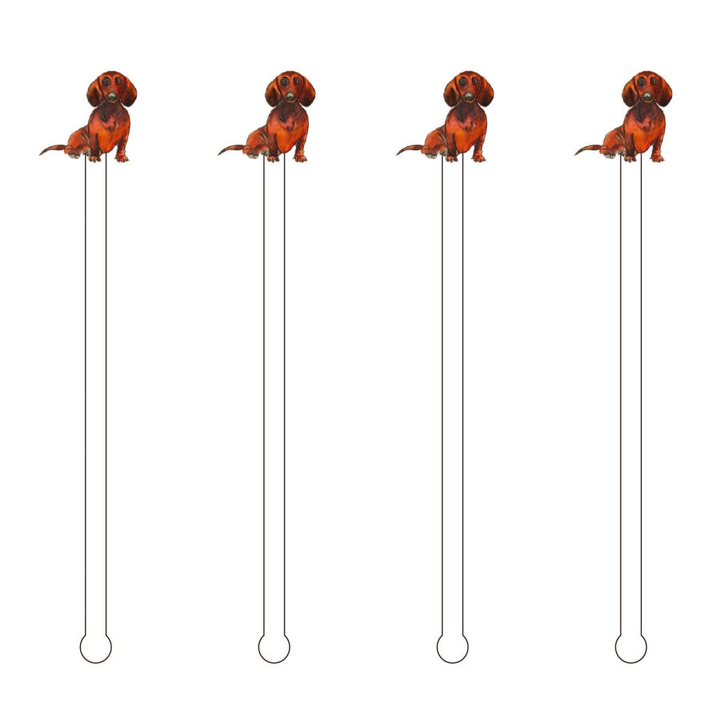 Dachshund Acrylic Stir Sticks