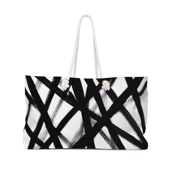 Black & White Graffiti Weekender Tote