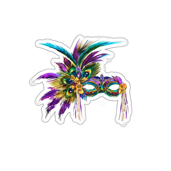OVER THE TOP Mardi Gras Mask REMOVABLE Sticker