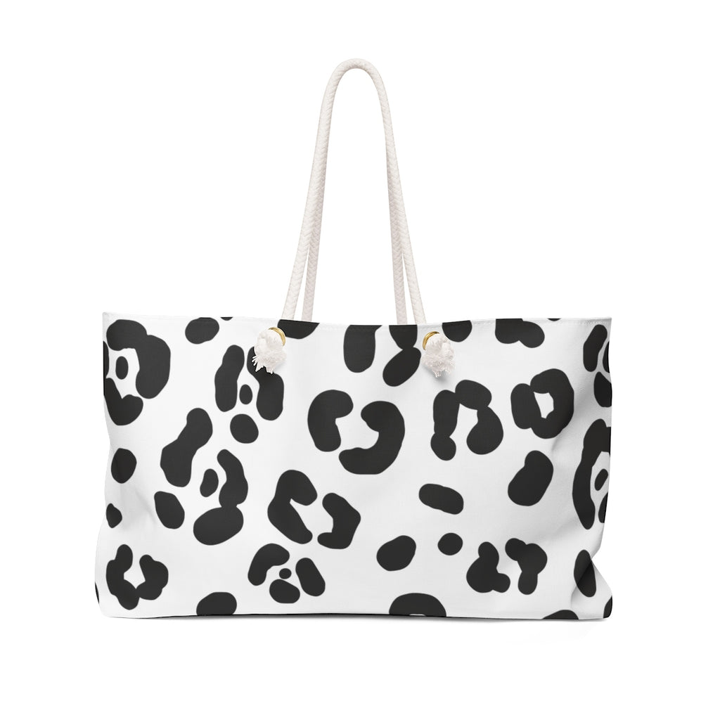 Black & White Cheetah Weekender Tote