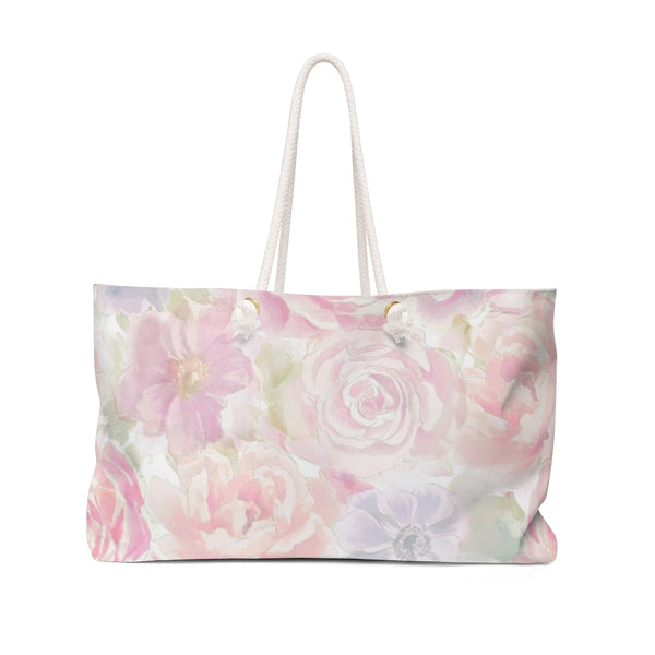 Romantic Watercolor Flowers Weekender Bag