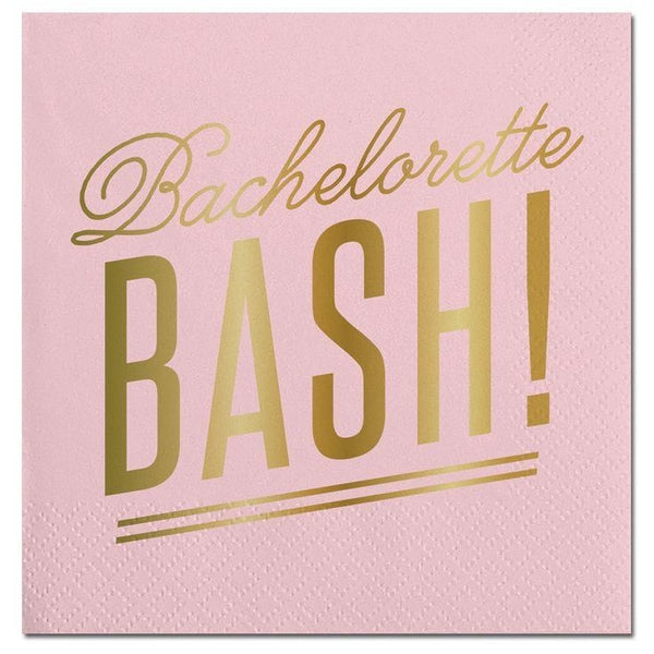 Bachelorette Bash Gold Foil Napkins