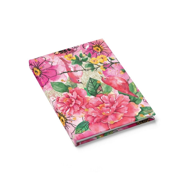 Pink Flower Birds Journal