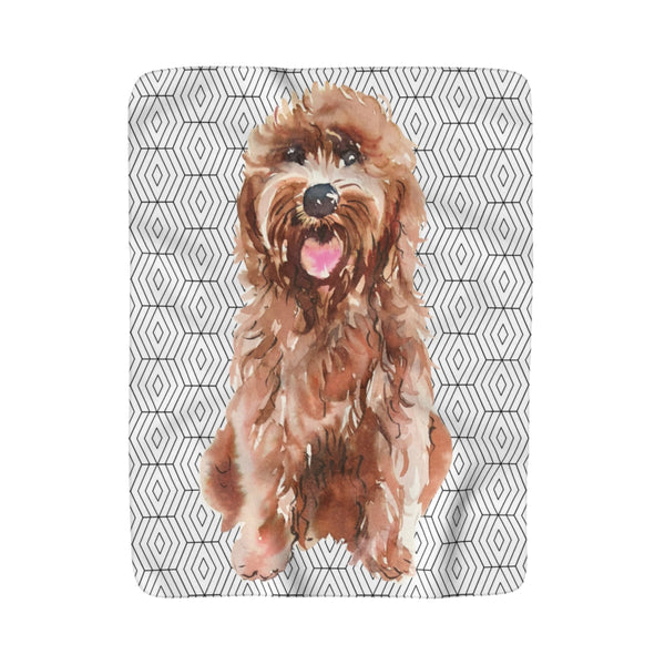 Rhombus Puppy Breeds Sherpa Fleece Blanket