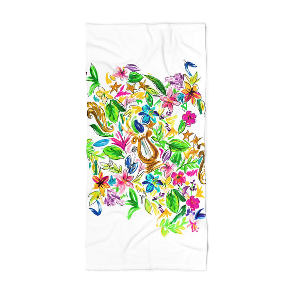 Alpha Chi Omega Lyre Beach Towel: 2 Sizes