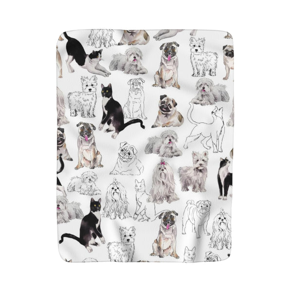Pets Fleece Sherpa Blanket