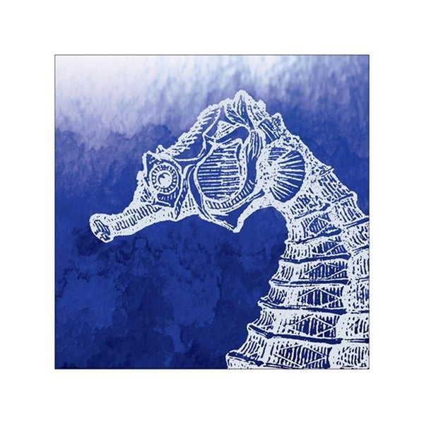 Seahorse Watercolor Beverage Napkins