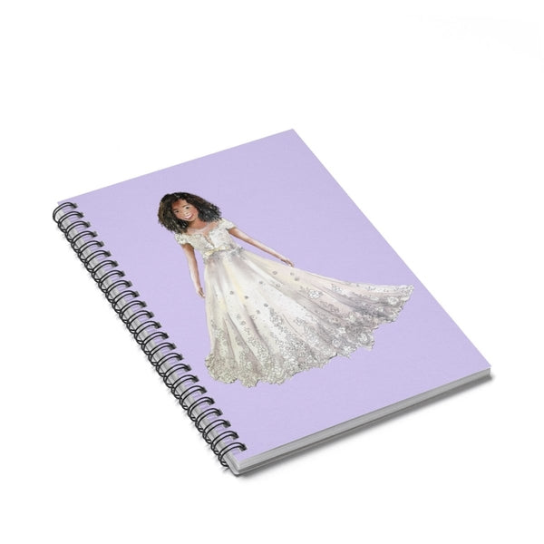 Flower Girl Lilac Spiral Notebook - Ruled Line