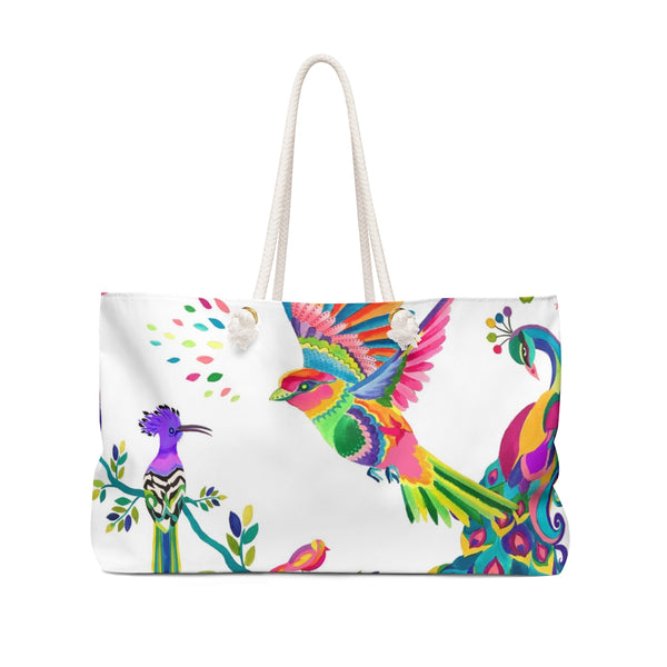 TAKE ME TO MEXICO--EXOTIC BIRDS WEEKENDER TOTE
