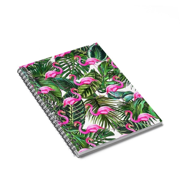 Palm Flamingo Spiral Notebook - Ruled Line