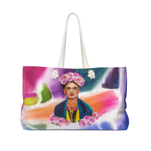 Frida Kahlo ABSTRACT Weekender Tote