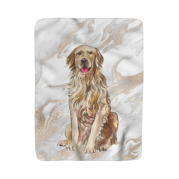 Preppy Pooch Marble Fleece Sherpa Blanket: Multiple Breeds