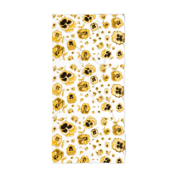 Gold Pansy Beach Towel
