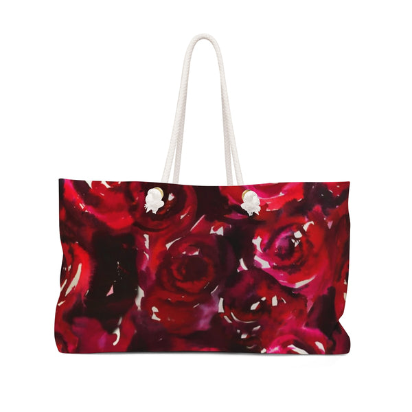 Watercolor Red Roses Weekender Tote