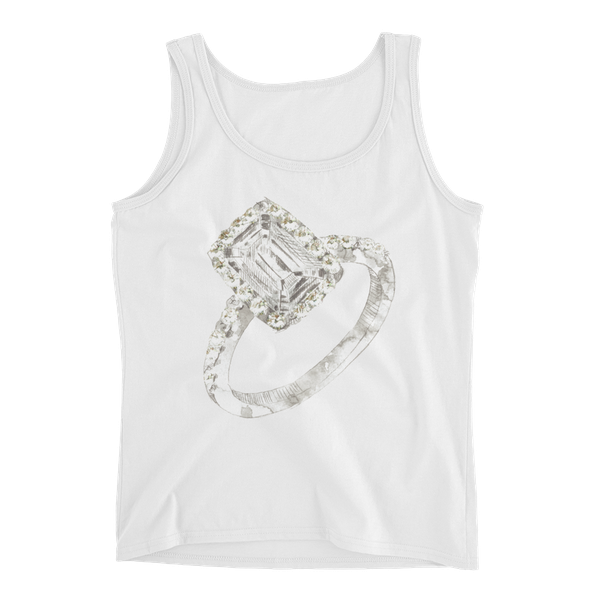 Radiant Engagement Ring Ladies Tank Top
