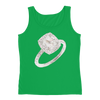 French Set Halo Engagement Ring Ladies Tank Top