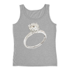 Solitaire Engagement Ring Ladies Tank Top