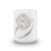 French Set Halo Engagement Ring Mug